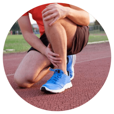 Sports person with shin / foot pain