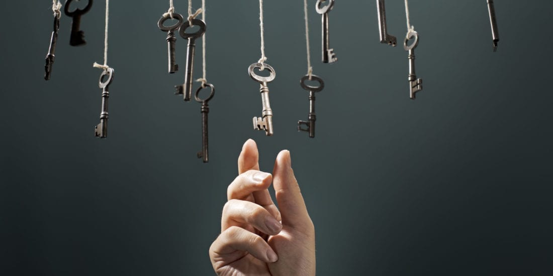 Selecting the right key